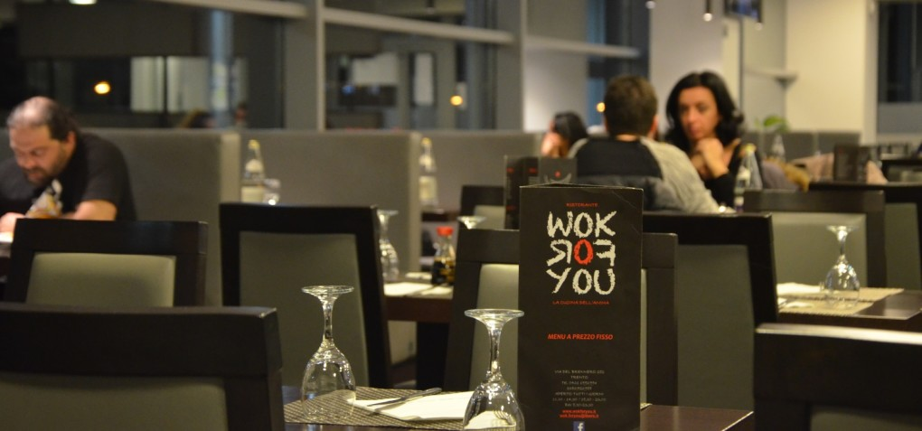 La sala del ristorante wok